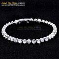 Novas mulheres moda CZ diamante do grânulo braceletes e pulseiras luxo romântico pulseira presente da jóia do casamento
