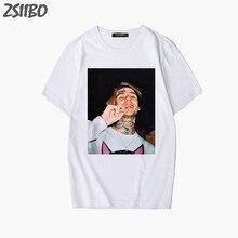 Female T-shirt Hipster Character 3D Print Rapper Lil Peep T Shirt Rap Hiphop LilPeep girl t shirt Women Graphic Tee Tops S-2XL