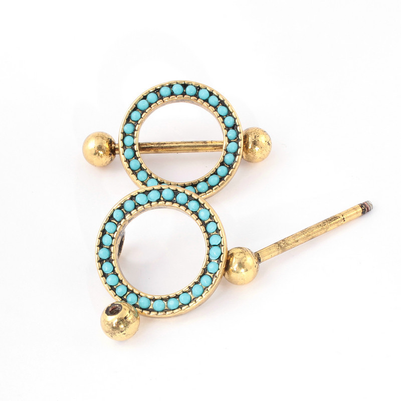 12Pcs Fashion Body Jewelry Trendy Antique Gold Color -6637