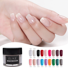 ELIKE glitter nail dipping powder 10g sparkle without lamp cure acrylic french dip kit DIY art decoration