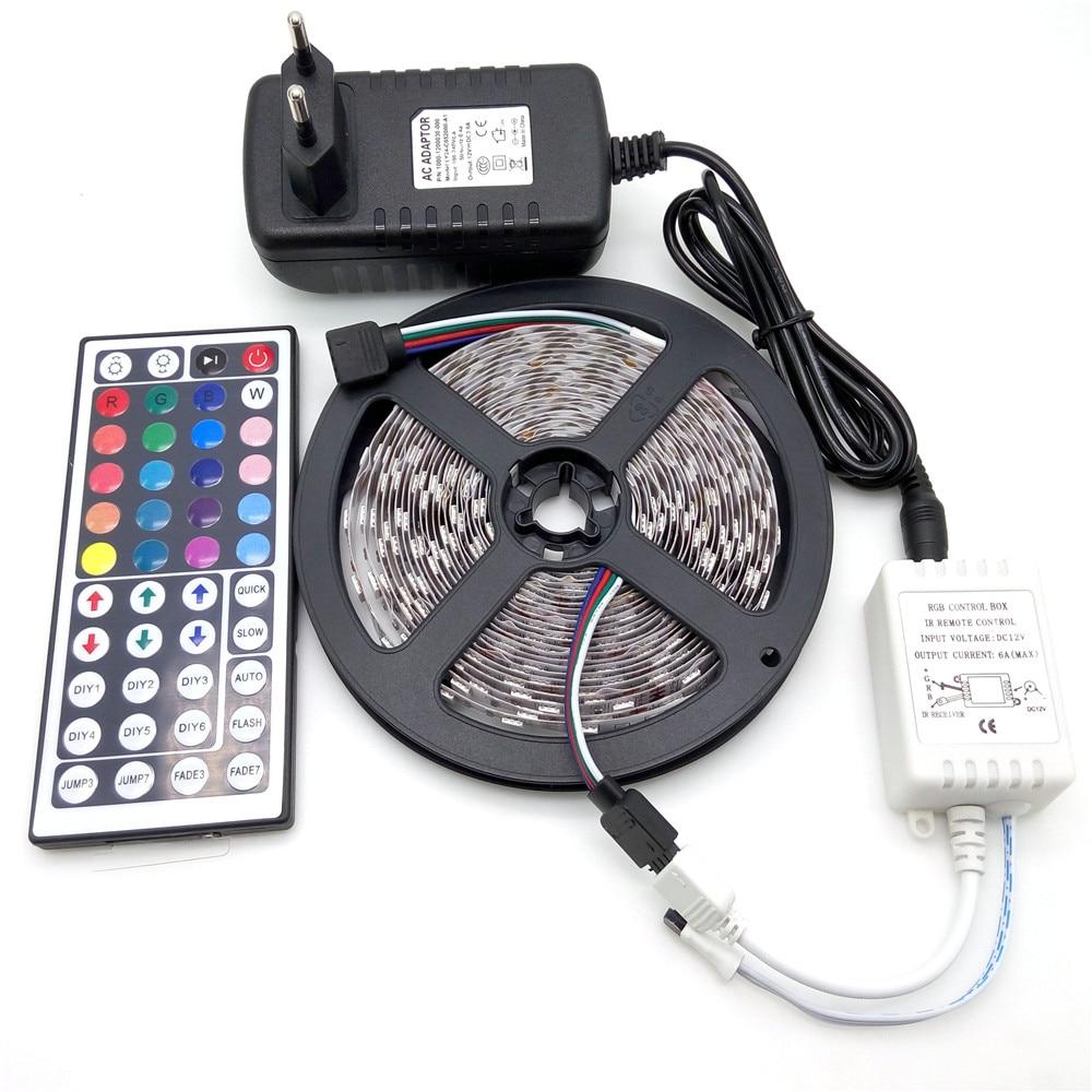 LED Strip Light 5050 RGB 5M 300 LED Icke-Vattentät Flexibel Strip - LED-belysning