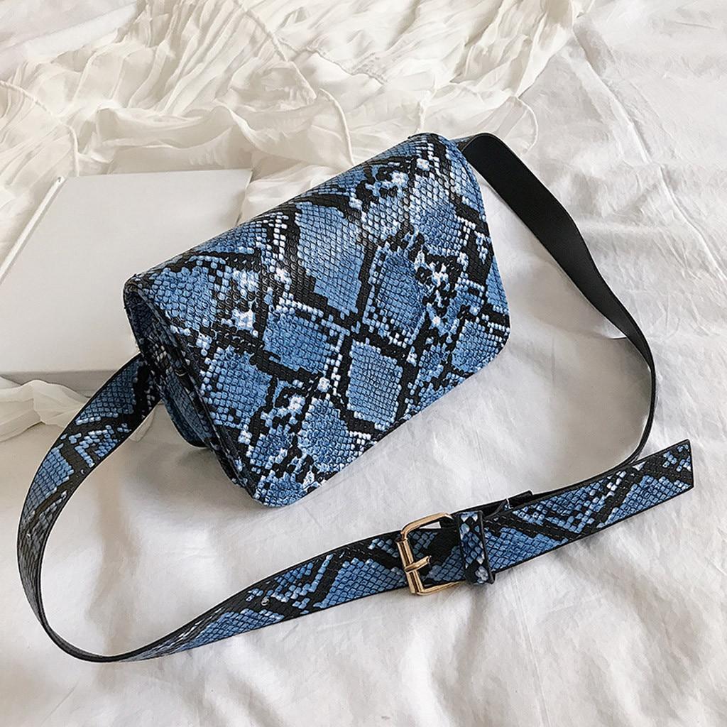 Women Waist Bag Outdoor Hasp Serpentine Messenger Phone Bolsa Cintura Menina Banano De Cintura Waist Bag Women Running 2019
