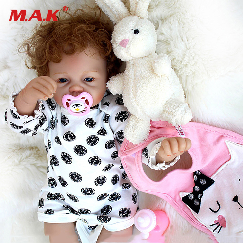53cm Reborn Baby Girl boy Doll full body soft Silicone Vinyl Complete Reborn Dolls blue eyes reborn bebe Dolls Gift for Kids 18 inch babies reborn brinquedo menina 45cm full vinyl body rooted curly mohair blue eyes boy body silicone reborn baby dolls