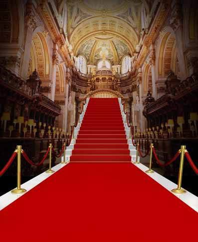 10x10ft Wedding Ceremony Red Carpet Steps Church Hall Arch