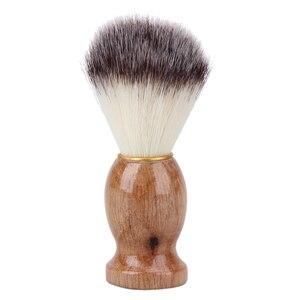Image 2 - גירית שיער גילוח של גילוח מברשת סלון גברים פנים זקן ניקוי מכשיר גילוח סגנון כלי גילוח מברשת עם עץ ידית עבור גברים