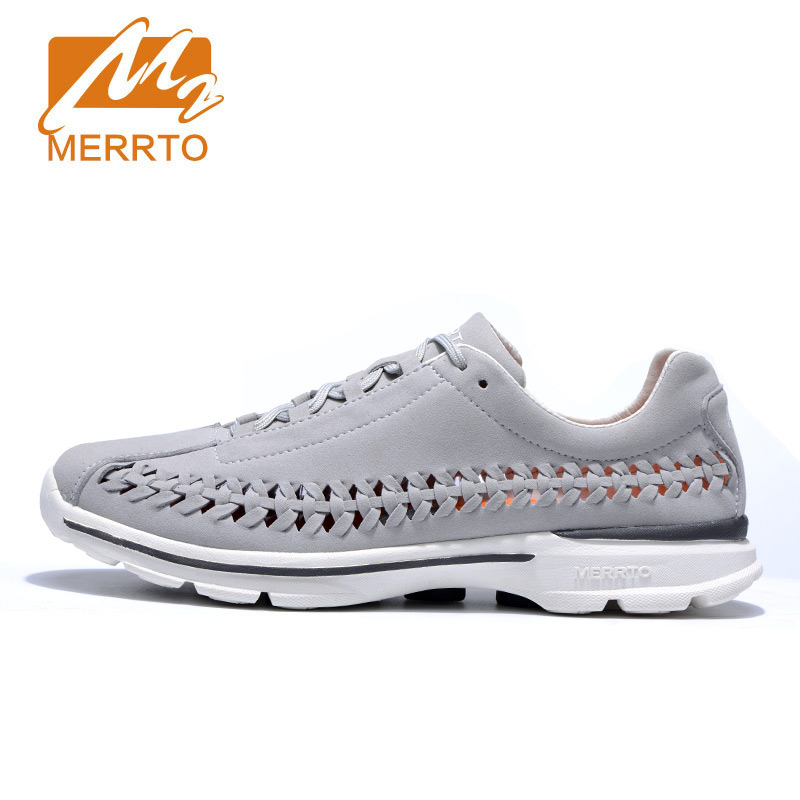 MERRTO Hot Style Men Running Shoes Lace Up Breathable Comfortable Sneakers Outdoor Walking Footwear Men Krasovki zapatillas peak sport men outdoor bas basketball shoes medium cut breathable comfortable revolve tech sneakers athletic training boots