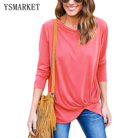 Brief Style Women T Shirt Long Sleeve Ladies Spring Casual O Neck Shirts For Girls School
