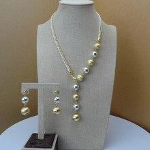 2019 Yuminglai  Italian Design 24K Dubai Costume Jewelry Sets Necklace and Earrings FHK6751