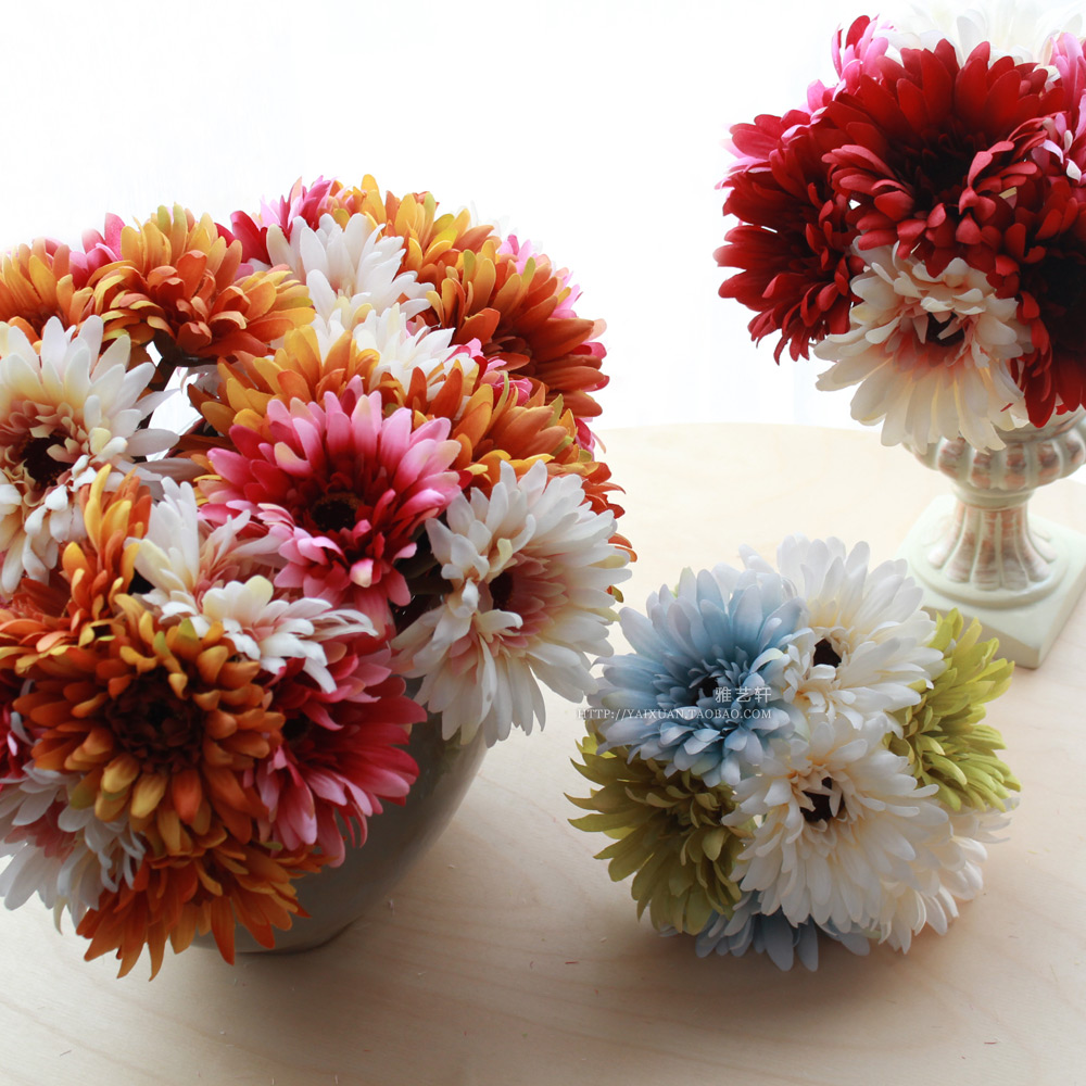 Online buy wholesale daisy flower types from china daisy flower 7 daisy flower headspiecefree shipping rustic type gerbera artificial flower silk dhlflorist Images