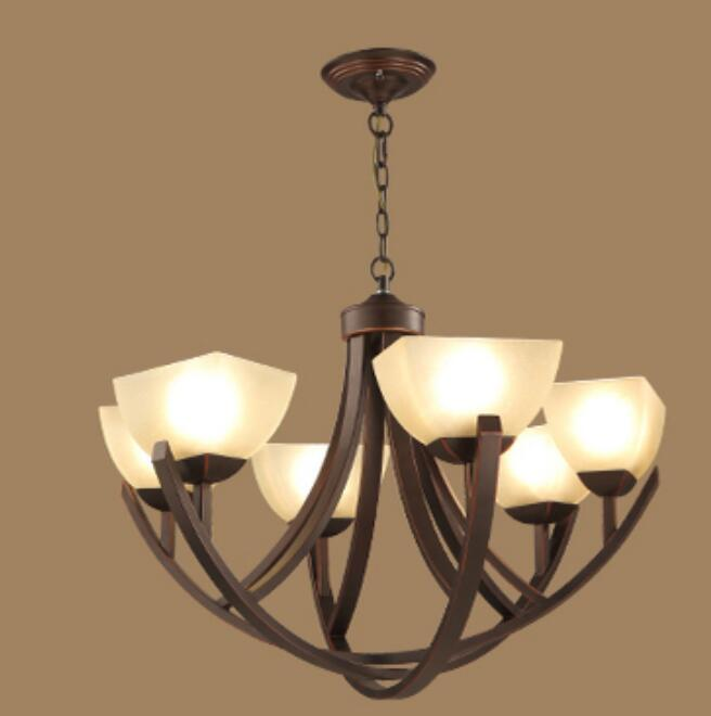 Multiple Chandelier Fashion Living Room Lights Lighting Iron Lamp Antique Rustic Lamps Brief 4 6