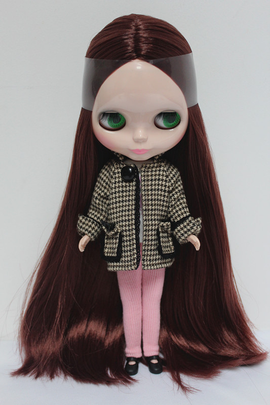 Free Shipping big discount RBL-68DIY Nude Blyth doll birthday gift for girl 4 colour big eyes dolls with beautiful Hair cute toy free shipping big discount rbl 288diy nude blyth doll birthday gift for girl 4colour big eyes dolls with beautiful hair cute toy