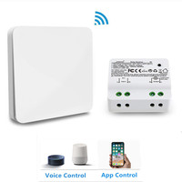 QCSMART Wireless Switch No Battery Needed for Remote Control 10A Relay App Timer Voice Control with Amazon Alexa Google Home