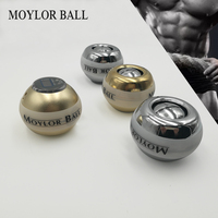 New 48LBS Strengthen Power Wrist Ball Metal Forearm Muscle Training Pressure Relieve Gyro Ball Gyroscopic Force Exerciser Ball A