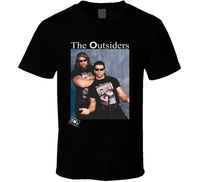 The Outsiders Black T Shirt Tee NWO New World Order Wrestling Gift New From US Casual T-Shirt Male Short Sleeve Pattern