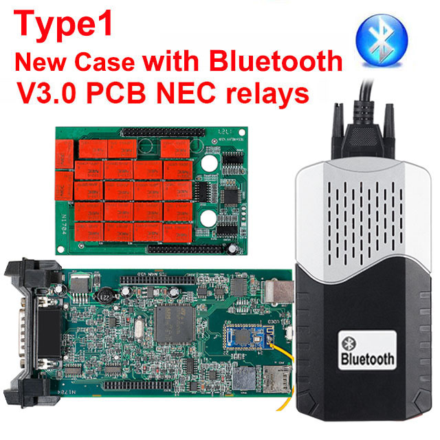 CDP TCS multidiag pro+ Bluetooth USB,00 keygen V3.0 реле NEC obd2 сканер автомобилей грузовиков OBDII диагностический инструмент - Цвет: Type1 new case BT