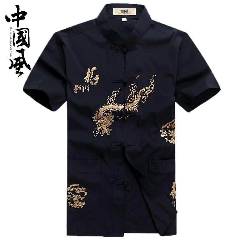 Trung Quốc Phong Cách Phù Hợp Với Quần Áo Truyền Thống Kung Fu Cho Nam Cotton Sườn Xám Áo Sơ Mi Phương Đông Nam Nam Trên Quần Áo Tangzhuang