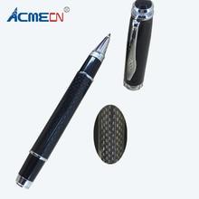 ACMECN Office Roller Ball Pen with Carbon Fiber Pen Barrel Black Liquid ink Pen for Men's Gifts Smooth Writing Gel ink Pens