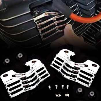 L/R FINNED SLOTTED HEAD BOLT SPARK PLUG COVERS FOR HARLEY TOURING ELECTRA STREET GLIDES ROAD KINGS 99-14 13 12 11 10 09 08 07 06 - DISCOUNT ITEM  9 OFF Automobiles & Motorcycles