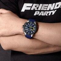 Megir Relógio Dos Homens Dos Esportes Da Forma do Relógio de Quartzo Mens Relógios Top Marca de Luxo Negócio Relógio À Prova D' Água Relogio masculino Silicone|Relógios de quartzo| |  -