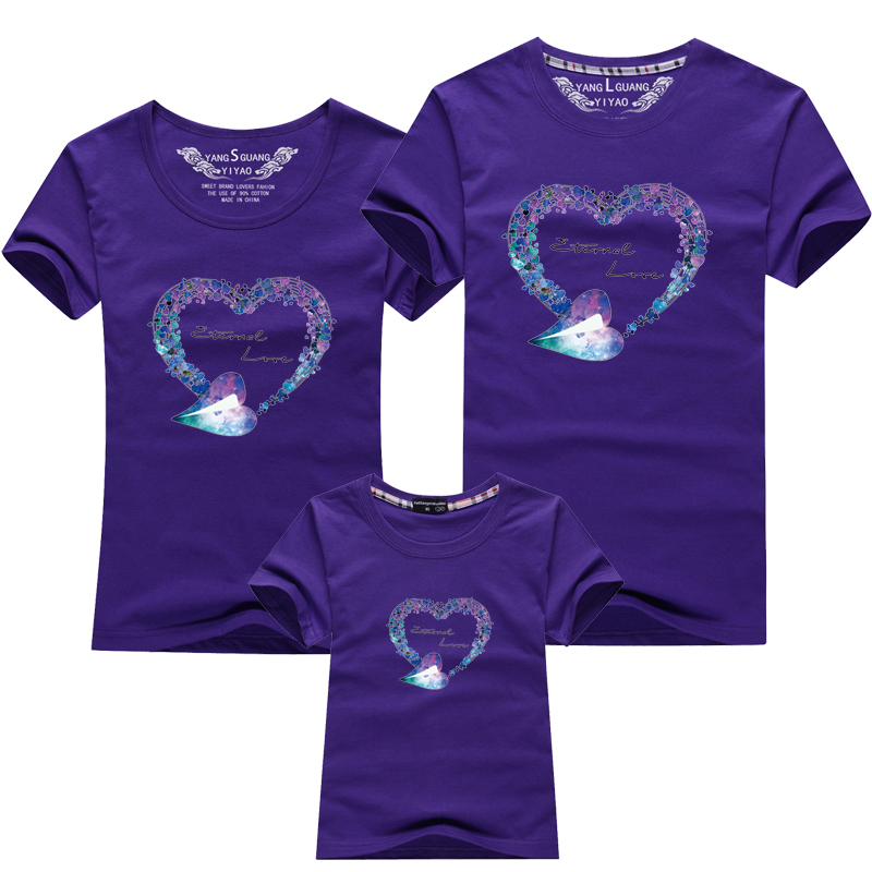 HTB149pZPFXXXXX5XXXXq6xXFXXXK - Mommy and Me Clothes Family Look Summer LOVE Ggarland Pattern Family T Shirt Father and Son Clothes Family Matching Outfits