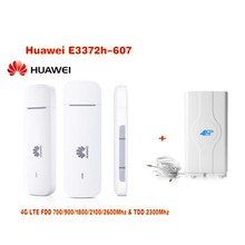 Unlocked New Arrival Huawei E3372 E3372h-607 USB 4G LTE 150Mbps  4G LTE USB Dongle plus with 4G 49Dbi CRC9 MIMO antenna