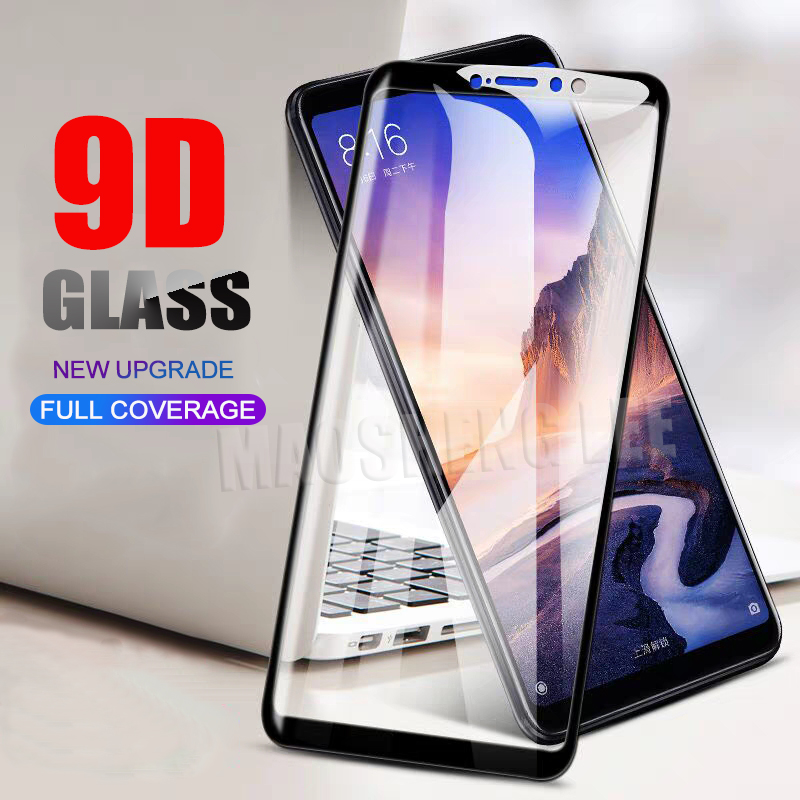 New 9D Tempered Glass For Xiaomi Mi Max 3 2 Full Cover Screen Protector tempered glass For Xiaomi Mi Max 2 Glass Protective Film-in Phone Screen Protectors from Cellphones & Telecommunications
