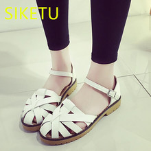 SIKETU Women shoes Free shipping 2017 Summer sandals Fashion casual shoes student Flat shoes flat lx035 Retro flip flops