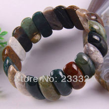 "Free Shipping New without tags Multi-color 10X25X8MM India Onyx Beads Stretch Bracelet 8"" 1Pcs RH1228"