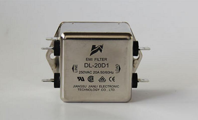 Power filter single phase 220V 20A DL-20D1 soldering baseboard installed EMI FILTER