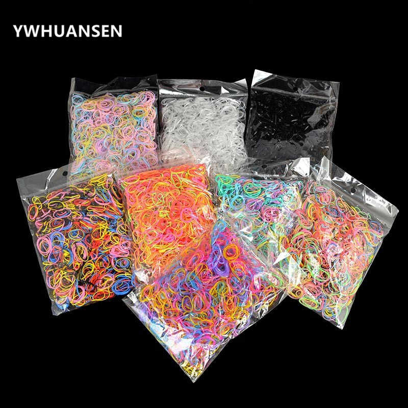 YWHUANSEN About 1000pcs/bag (small package) New Child Baby TPU Hair Holders Rubber Band Elastics Girl's Tie Gum Hair Accessories