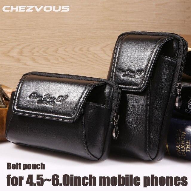 Smartphone pochette de ceinture en cuir véritable étui Vintage pour Iphone 6 6s 7 Plus 5s 4 pochette de ceinture sac à main sac de taille pour 4.5 ~ 6.0 téléphones