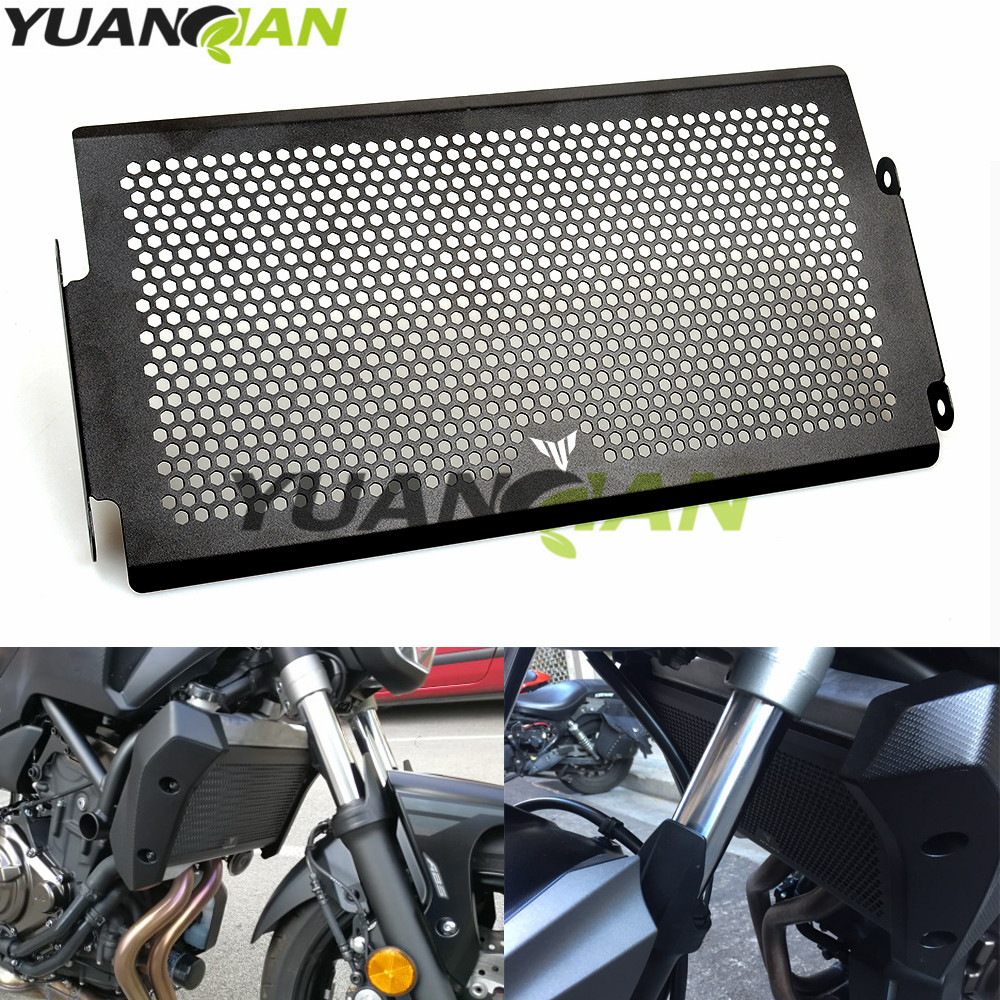 Motorcycle Radiator Guard Protector Grille Grill Cover Stainless Steel Radiator Grill Cover For YAMAHA MT07 FZ07 FJ07 2014-2016 car front bumper mesh grille around trim racing grills 2013 2016 for ford ecosport quality stainless steel
