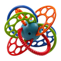 0+ Baby Teether Pacifier Toy BPA Free Colorful Baby Ball Rattle Early Educational Toy High Quality Hand Development WJ298