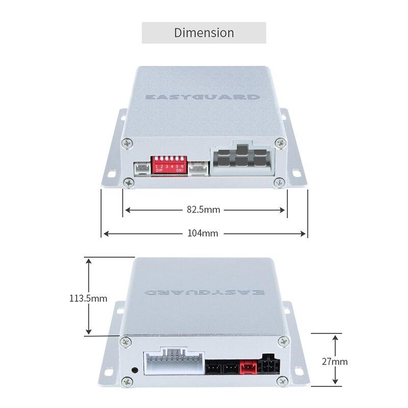 Système d'alarme de voiture EASYGUARD PKE système de démarrage par poussée démarrage à distance du moteur arrêt automatique passif kit d'entrée sans clé clavier tactile mot de passe - 4