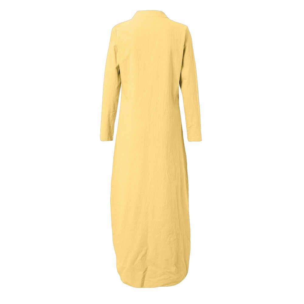 ファッション夏ドレス女性 2018 女性プリント長袖 V ネックマキシドレス分割裾だぶだぶカフタンロングドレスローブ Vestidos