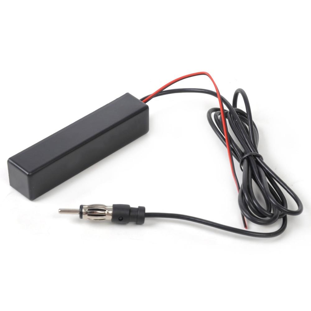 Beler 1Pc  Black Universal Car Electronic Stereo Radio AM FM Hidden Amplified Antenna Kit For Boat Truck ATV For VW Audi Ford