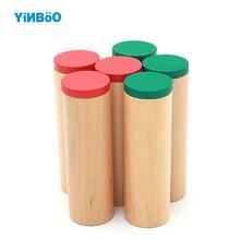 Дитяча іграшка Монтессорі Звукові коробки для дітей раннього виховання Дошкільна освіта Навчальні іграшки Family Version 6 Дерев'яні циліндри
