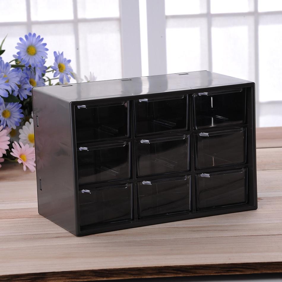 Plastic Portable Storage Cabinet Short : Jewelry plastic storage box mini debris cabinets lattice
