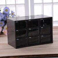 9 Jewelry Plastic Storage Box Mini Debris Cabinets Lattice Portable Amall Drawer Sorting Grid Desktop Office