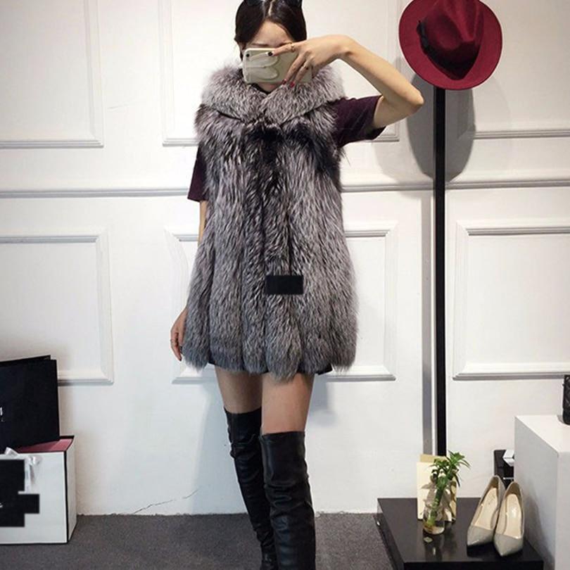 Rompi Mantel 2018 Baru Musim Dingin Bulu Rubah Rompi Bulu Imitasi - Pakaian Wanita - Foto 6