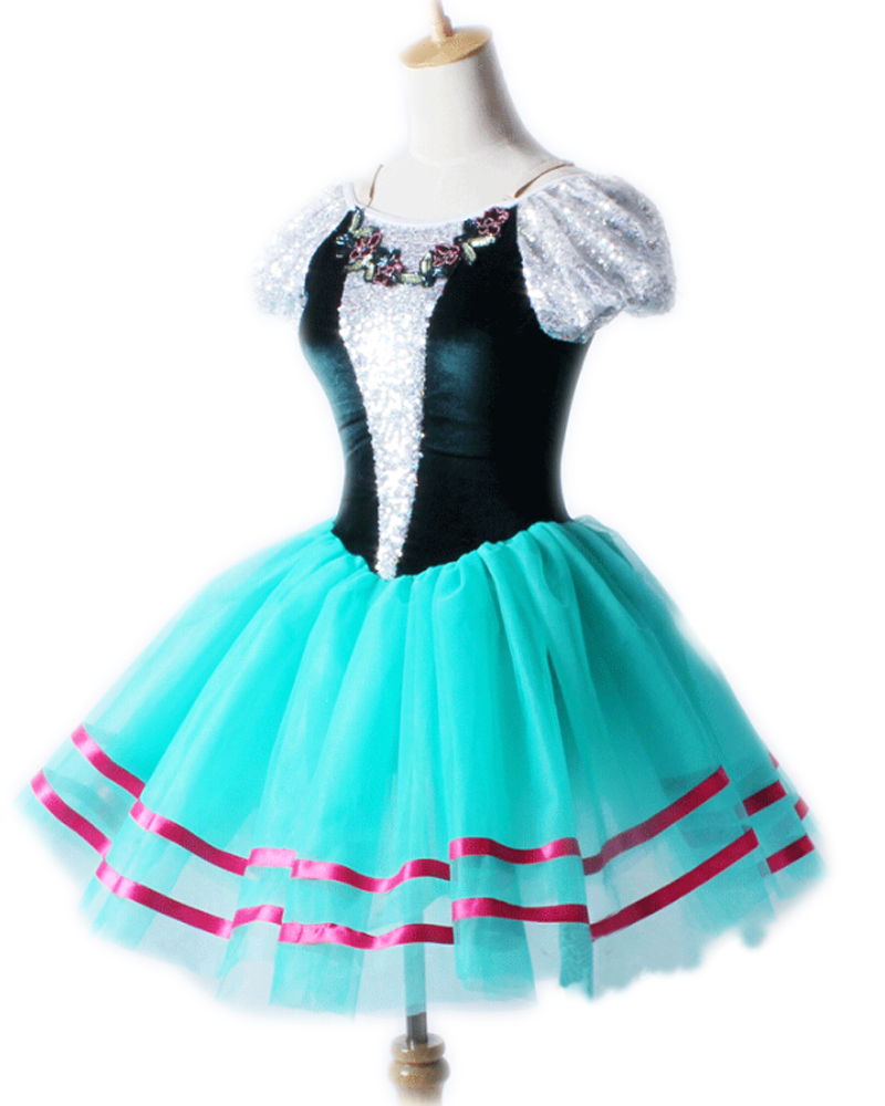 Lovely The New Children's Female Hubble-bubble Sleeve Ballet Skirt Dancing Clothes Professional Distinction Stage Performance