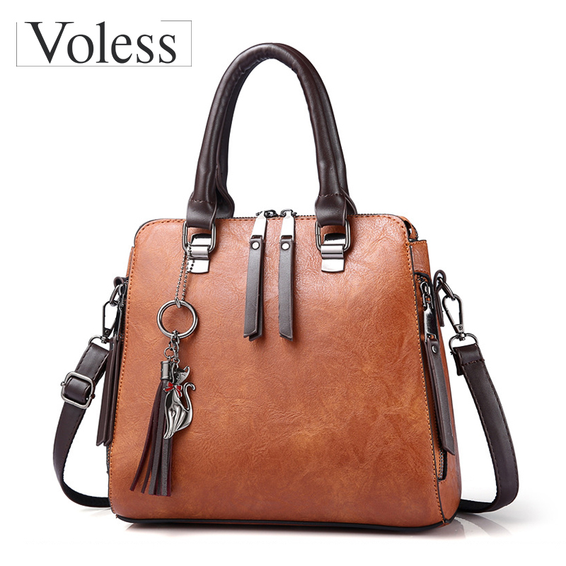 Tassel Designer Shoulder Bag Women Leather Handbags Female Messenger Bags Large Capacity Tote Bag Crossbody Bags For Women Sac