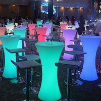 Новейшее светодиодное, светящееся высокий стол барный столик стул креативный световая мебель бар рассеянный Настольный набор для чая Наст