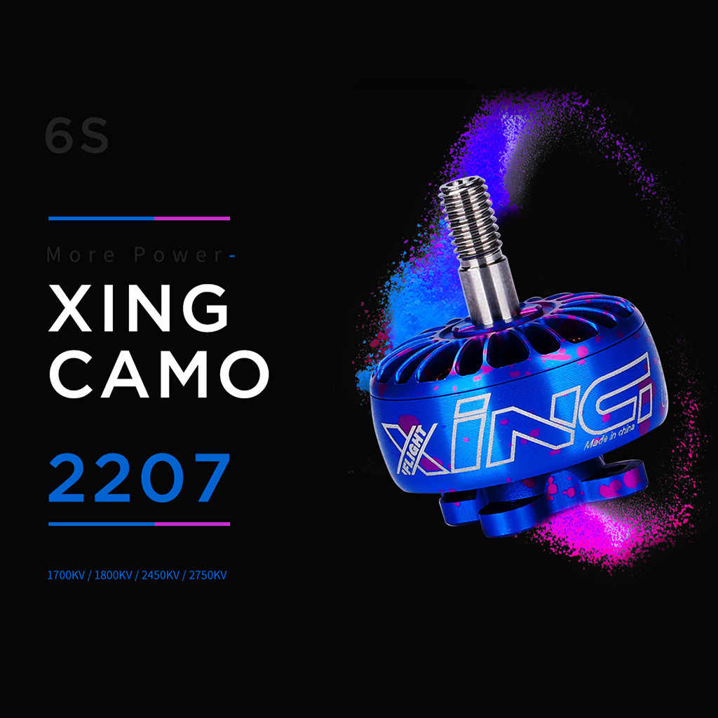 HIINST iFlight XING de Camo 2207 2450KV 2750KV 2 ~ 4 S/1700KV 1800KV FPV Motor sin escobillas MAR25 p50