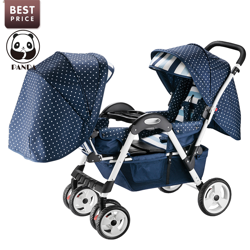 Twin Baby Stroller Luxury Double Pram For Twins Tricycles For Babies Children Twin Baby Carriage Pushchair European Trolley Pink twins stroller double stroller super twins stroller carrier pram buggy leader handcart ems shipping