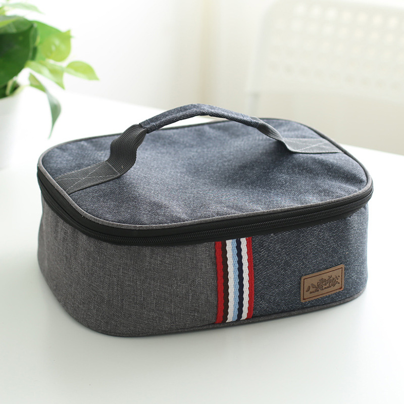 New Fashion Canvas Insulated Lunch Bag Thermal Food Bag For Kids Women And Men Casual Cooler Thermo Picnic Bag Good Quality