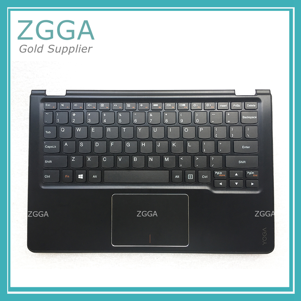 New For Lenovo Yoga 3 11 Palmrest Top Cover Upper Case US Keyboard With Touchpad Black Backlit English AM190000600