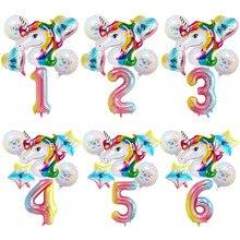 Taoqueen шляпа мультфильм праздничные шарики с единорогом день рождения шары посылка полная луна День Рождения украшения для девочек Детские Вечерние