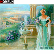 HOMFUN Full Square/Round Drill 5D DIY Diamond Painting Beauty flower Embroidery Cross Stitch 5D Home Decor Gift A16392 homfun full square round drill 5d diy diamond painting beauty flower embroidery cross stitch 3d home decor gift a13396