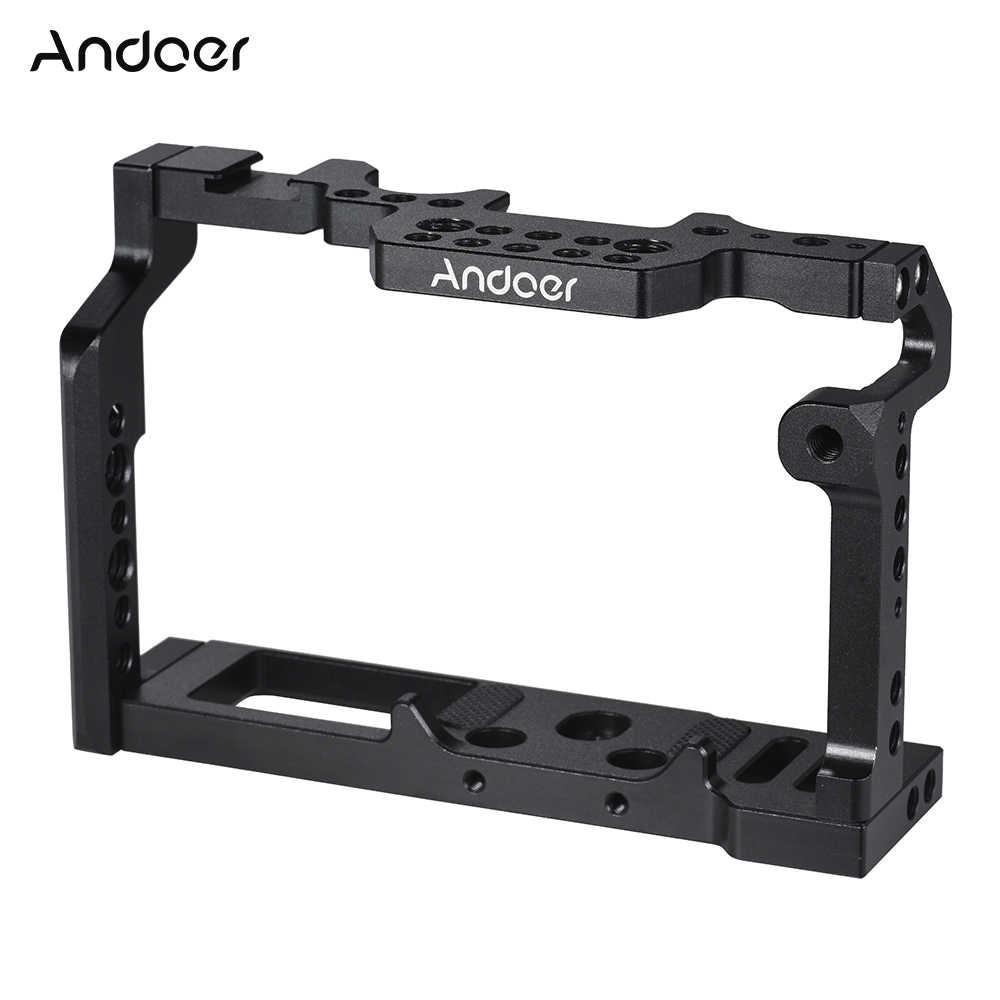 Andoer видео Камера клетка Алюминий сплав Камера стабилизатор оборудования фотопленки Системы для ЖК-дисплея с подсветкой Fujifilm XT2
